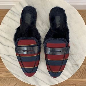 J.Crew Faux Fur-lined Academy Penny Loafers Mule 9